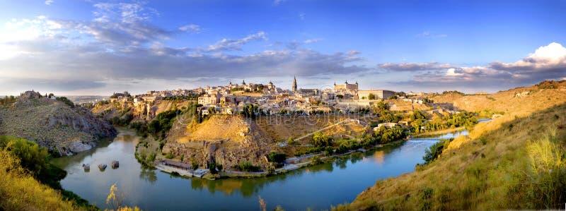 Panoramic of Toledo. Spectacular panoramic of Toledo Spain stock image