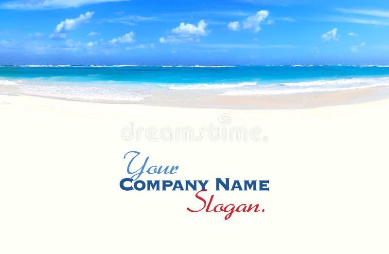 Panoramic of tropical beach royalty free stock photos