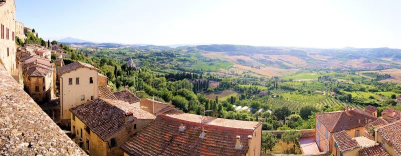 Panoramic Tuscan View Stock Photo