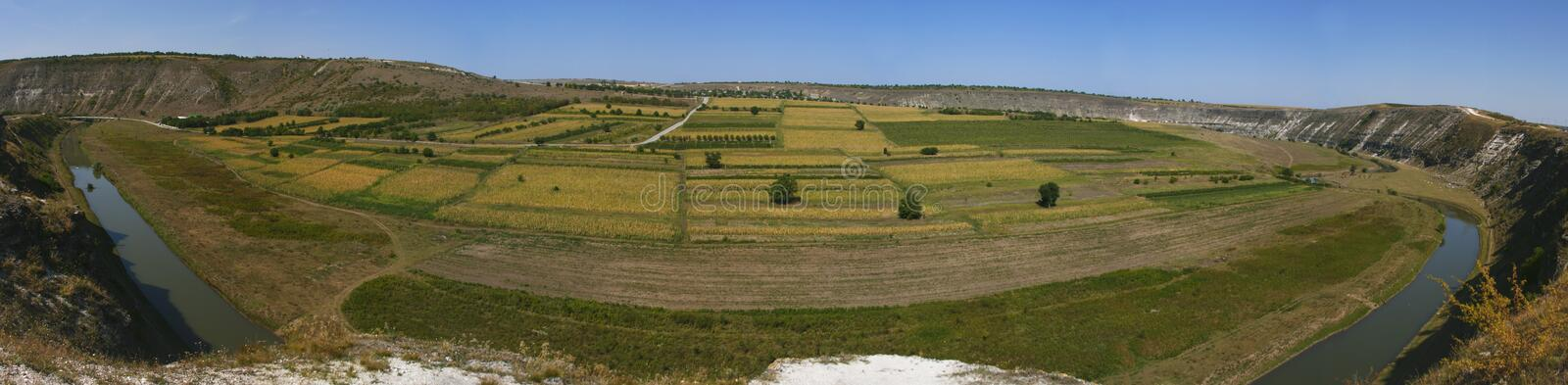 Panoramic valley stock images