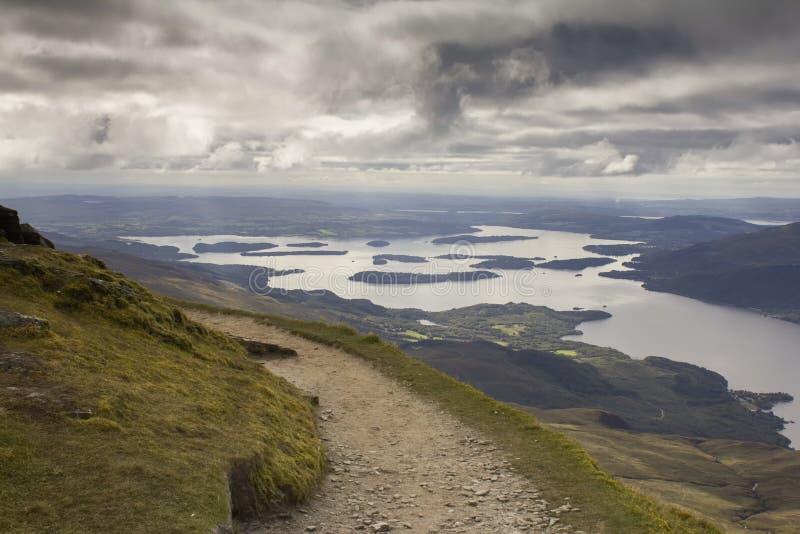 Panoramic veiw of Loch Lomond royalty free stock image