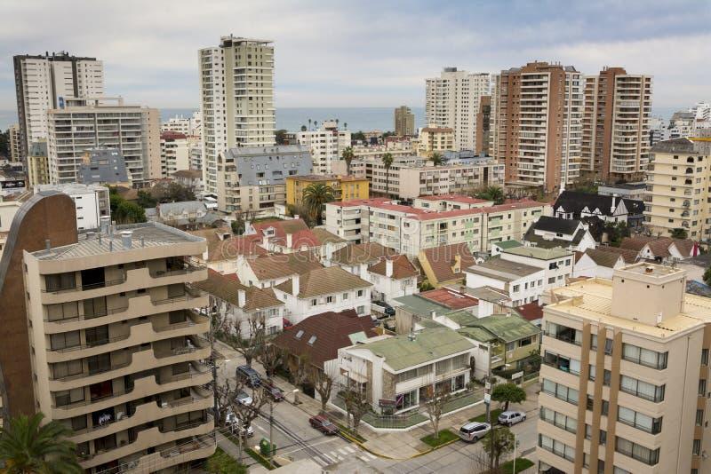 Panoramic of Viña del Mar, Chile royalty free stock photos