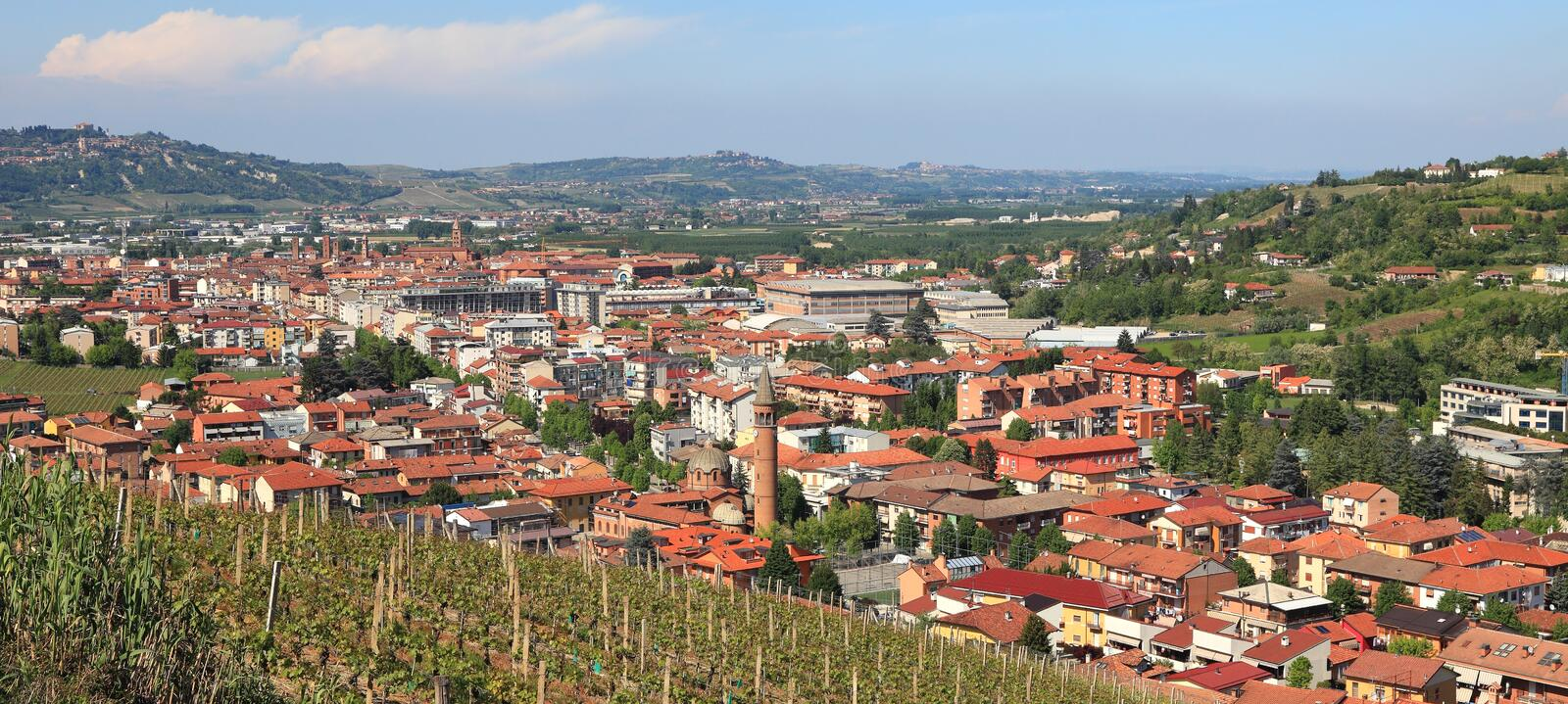 Download Panoramic View On Alba, Italy. Royalty Free Stock Photography - Image: 21049737