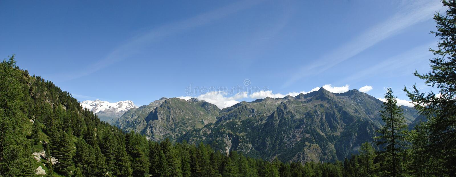 Panoramic view of Alps royalty free stock image