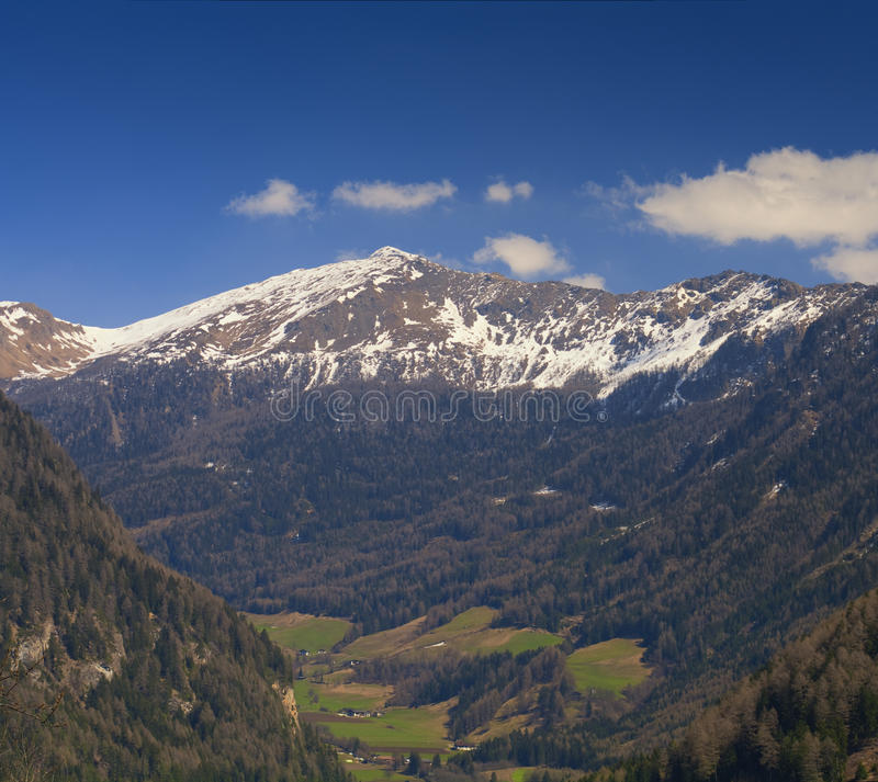 Panoramic View of Alps near Vipiteno - Sterzing. (Bolzano - Bozen stock image