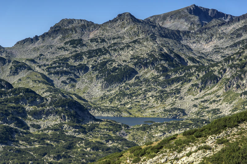 Panoramic view around Popovo lake, Pirin Mountain. Bulgaria stock image