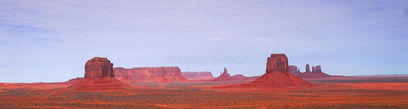 Panoramic view of Artist Point at Monument Valley stock photo