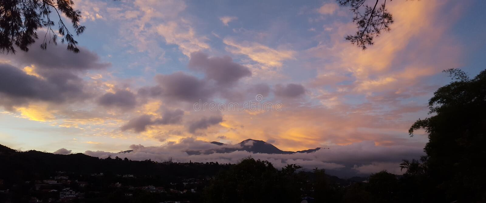 Panoramic view Avila mountain Caracas Venezuela stock photography