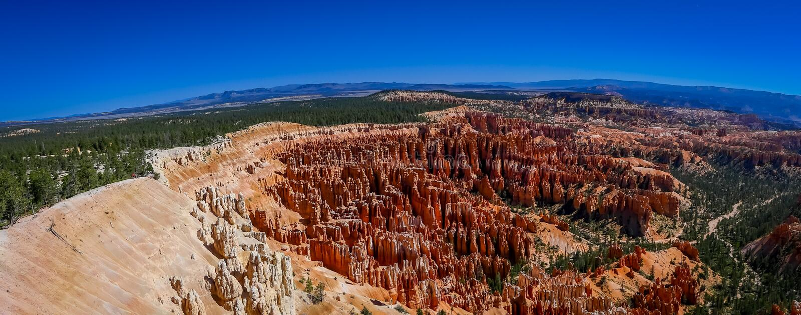 Panoramic view of beautiful Bryce Canyon National Park, Utah,. USA stock photo