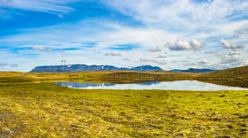 Panoramic view of beautiful colorful Icelandic landscape, Icelan stock photos