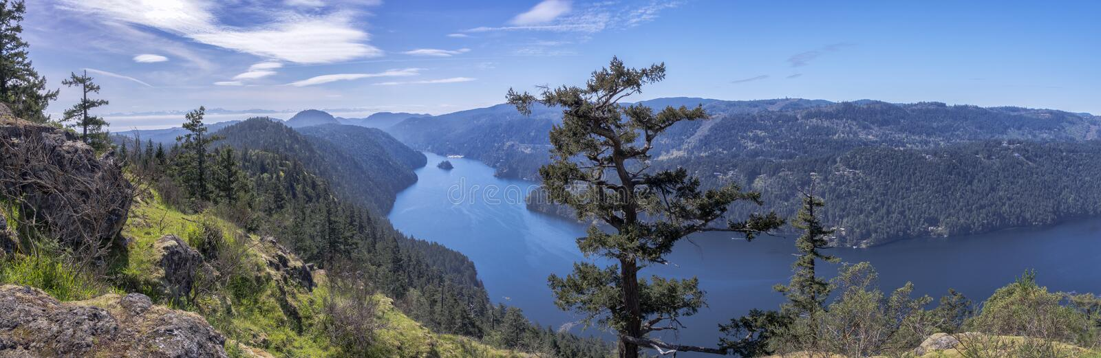 Download A Panoramic View Of A Beautiful Fiord, British Columbia, Canada Stock Image - Image of ocean, inlet: 69442383