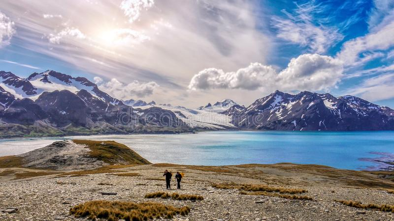 Adventure travel on the dramatic and remote South Georgia Island stock photography