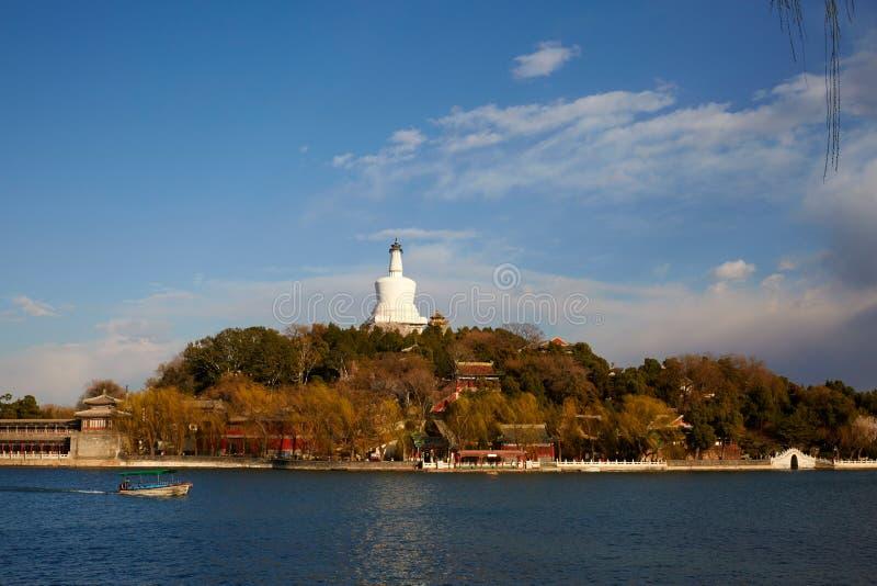 Beihai Park, Beijing spring royalty free stock image