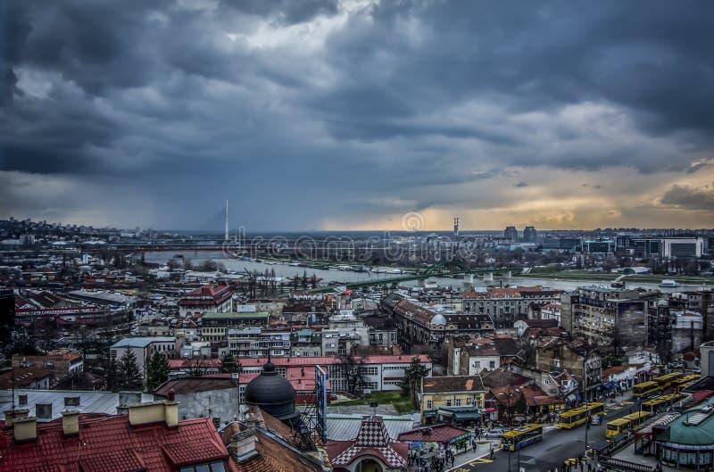 Panoramic view of Belgrade stock photo