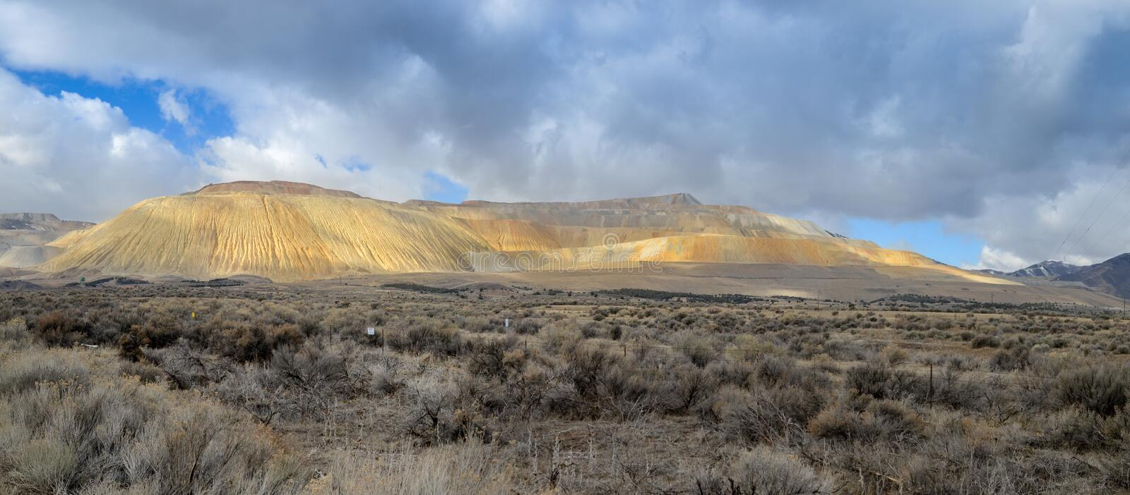 Panoramic view of The Bingham Canyon Mine Or Kennecott Copper Mine. USA stock photography