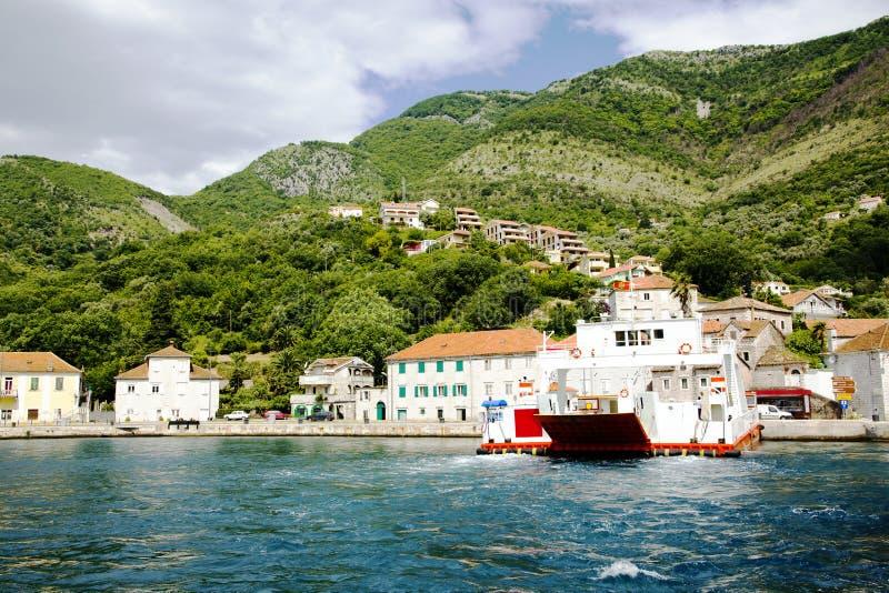 Panoramic view of Boka Kotorska Bay. Montenegro royalty free stock image