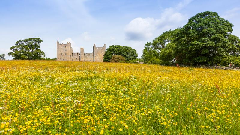 Bolton Castle in North Yorkshire stock photos