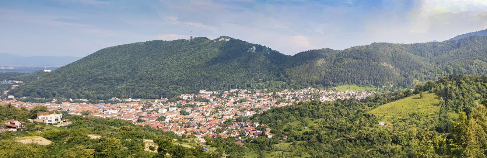 A Panoramic view of Brasov, Romania royalty free stock images