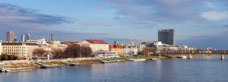 Panoramic view of Bratislava, capital of Slovakia. stock image