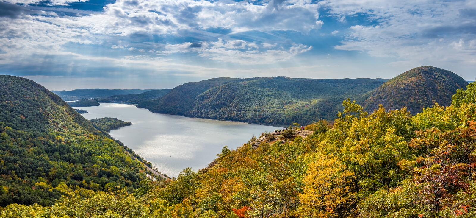 Panoramic view from Breakneck Ridge royalty free stock image