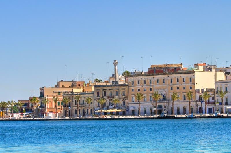 Panoramic view of Brindisi. Puglia. Italy. stock photography