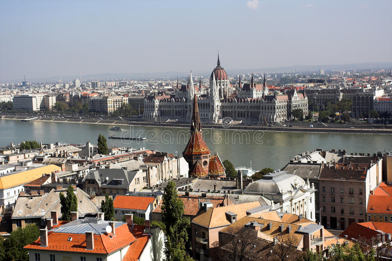 Panoramic view from Budapest royalty free stock photos