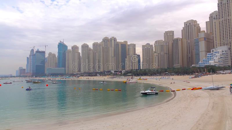 Panoramic view of business bay, downtown area of Dubai royalty free stock photography