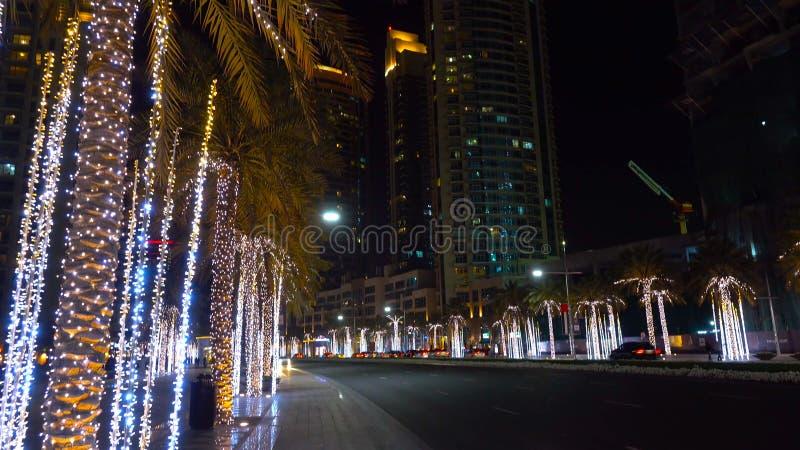Panoramic view of Business bay of Dubai, UAE stock photography