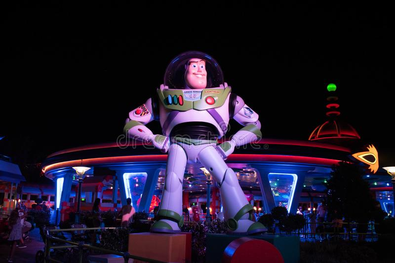 Panoramic view of Buzz Light Year in Toy Story Land at Hollywood Studios. stock photos