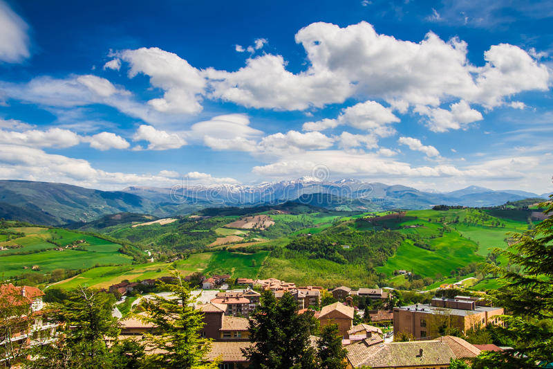 Panoramic view from Camerino stock image