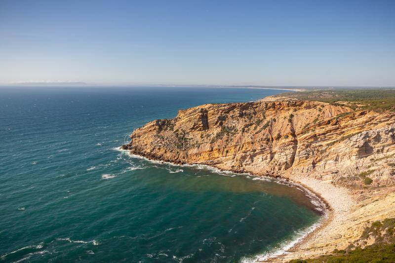 The panoramic view of Cape Espichel royalty free stock photo