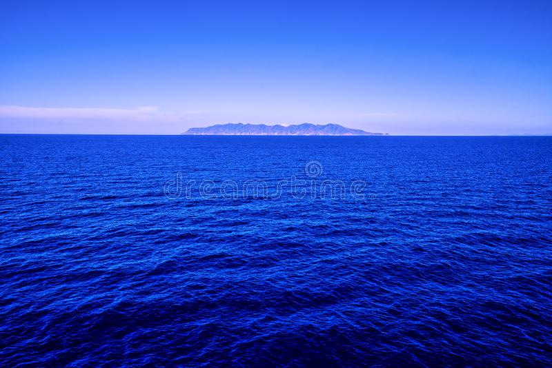 Panoramic view with Capraia island in background stock photography