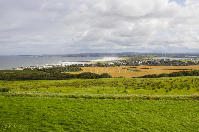 A panoramic view Castlerock and Coleraine towns in Northern Ireland stock image