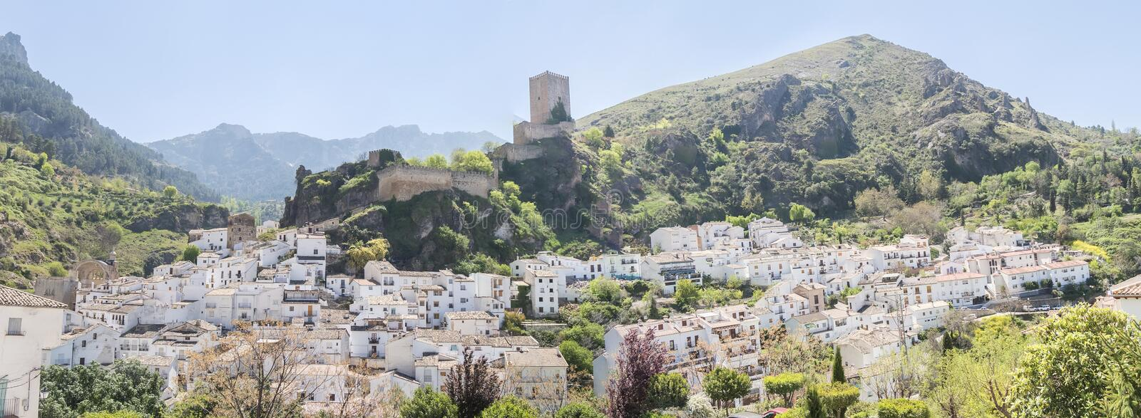 Panoramic view of Cazorla village, in the Sierra de Cazorla, Jaen, Spain stock photography