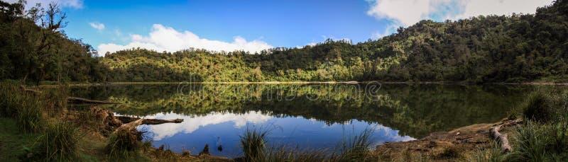 Panoramic view on the Chicabal Lake Laguna Chicabal, San Martín Sacatepéquez, Quetzaltenango, Guatemala. Chicabal Lake is a Guatemalan lake sacred to the stock photos