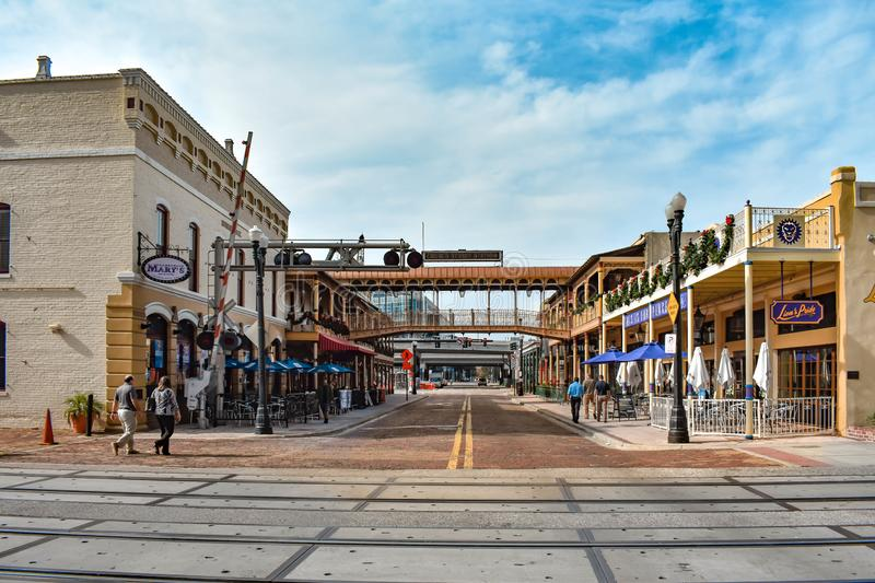 Panoramic view of Church Street Station . For more than 100 years, Church Street has been the heart of Downtown Orlando. Orlando, Florida . December 24, 2018 royalty free stock photo