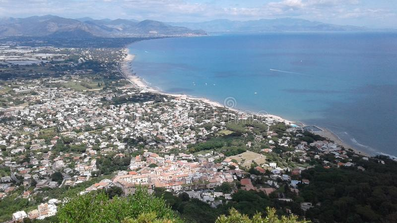 Panoramic view of Circeo, province of Rome, Italy royalty free stock photos