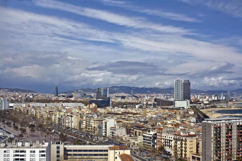 Panoramic view of City royalty free stock image