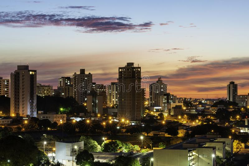 Panoramic view of the city of Bauru. Interior of the State of São Paulo. Brazil.  stock photo