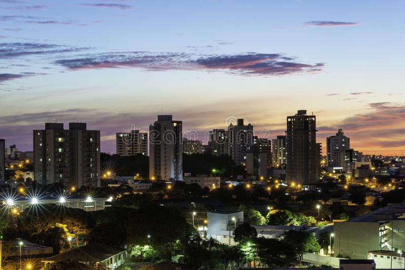 Panoramic view of the city of Bauru. Interior of the State of São Paulo. Brazil.  royalty free stock photography