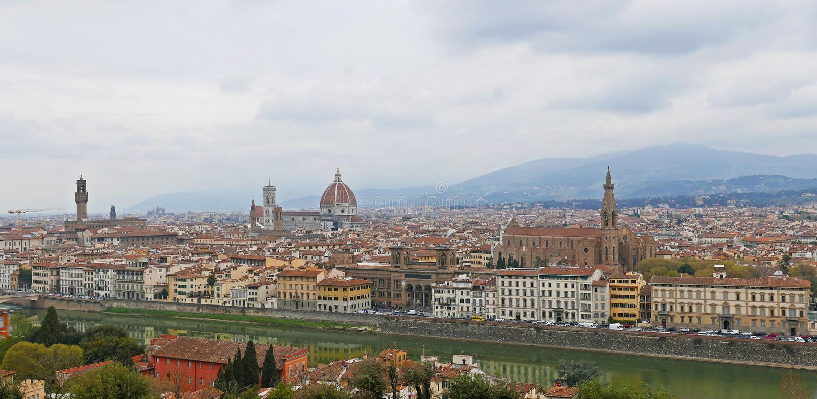 Florence panoramic royalty free stock photography