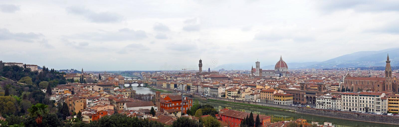 Florence panoramic stock photography