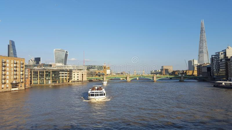 Panoramic view of the city of london. From the oposite coast stock images