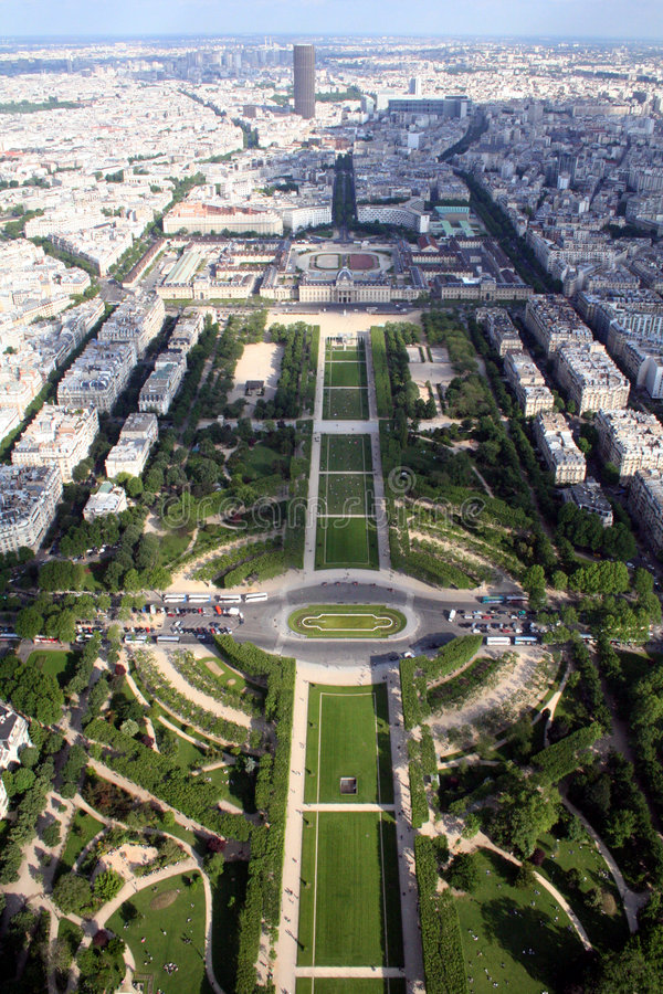 Panoramic view of the city of Paris, France stock photo