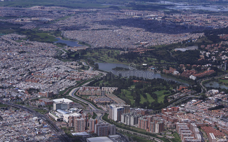 Panoramic view of a city stock images