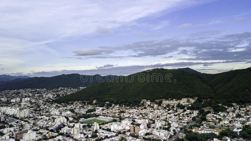 Panoramic view of the city of Salta. Argentina royalty free stock images