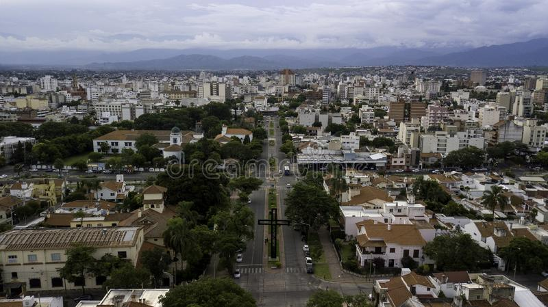 Panoramic view of the city of Salta. Argentina stock images