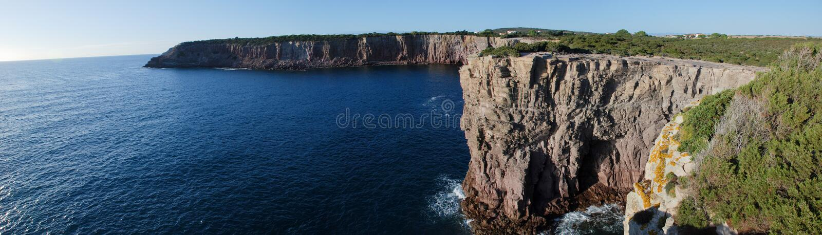 Panoramic view of a cliff stock images