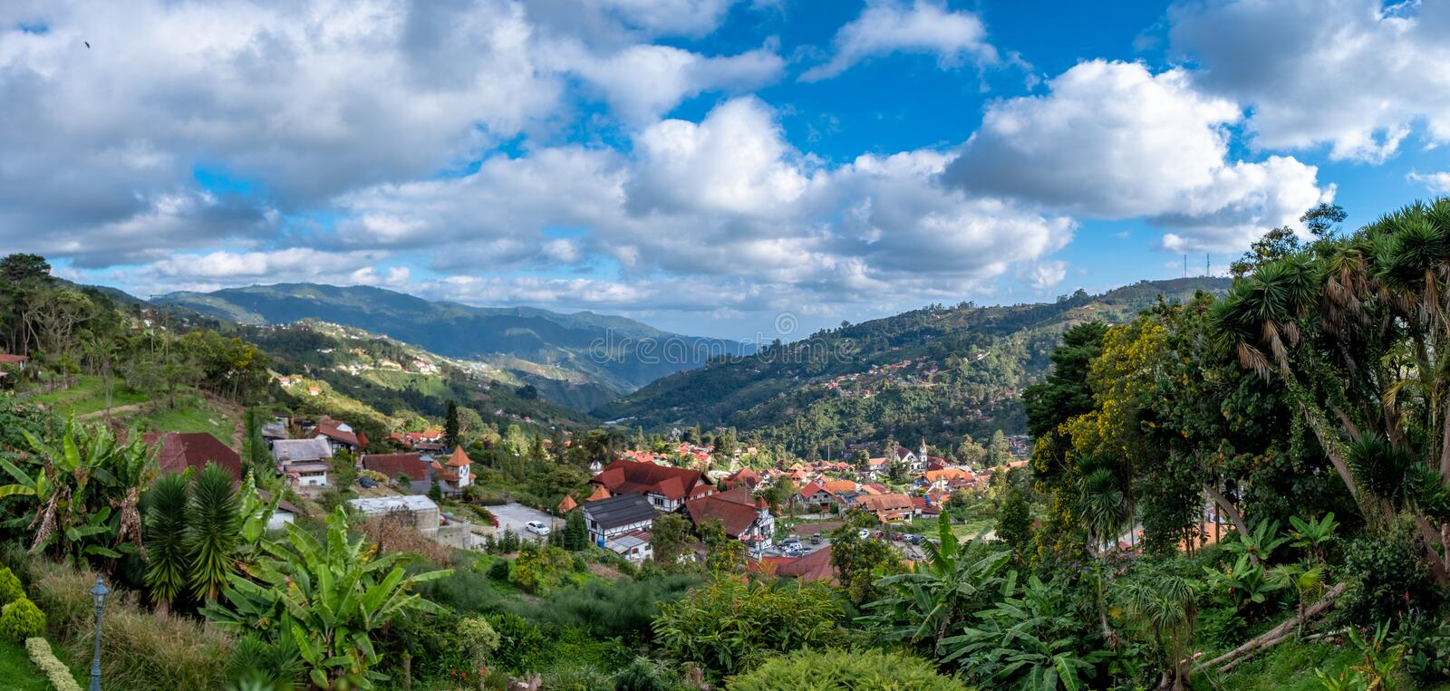 Panoramic view of The Colonia Tovar, Venezuela royalty free stock image