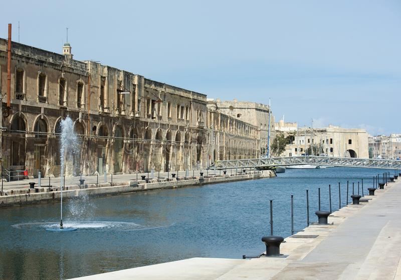 Panoramic view of Cospicua or Bormla also known by its titles CittaCospicua stock image